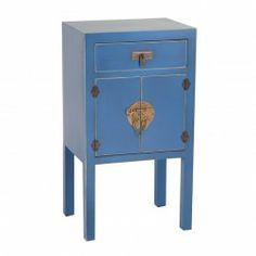 Mesita Auxiliar Oriente azul. #Muebles para el #salon y #dormitorio en…