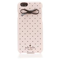 kate spade new york Tiny Black Dot Bow iPhone 6 Hard Case ($50) ❤ liked on Polyvore featuring accessories, tech accessories, phone cases, phone, cases, tech and kate spade