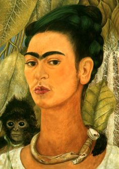 Frida Kahlo Famous Naive Primitive Style Oil Paintings Art Reproduction on Canvas