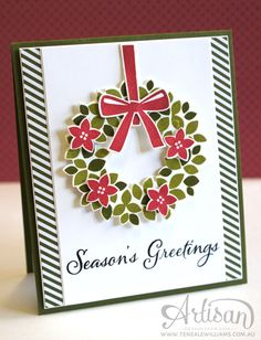 By Teneale Williams | Stampin' Up! Wondrous Wreath | Artisan Blog Hop December