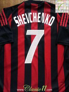 ad74e39bd7e4b3 Relive Andriy Shevchenko's 2002/2003 season with this vintage Adidas AC  Milan home football shirt