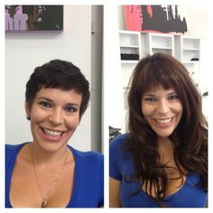 Hair extensions for short hair i want to get these hairstyles a dramatic hair extension before and after yes you can apply hair extensions on very short hair utilizing micro extensions and a top of the head system we pmusecretfo Image collections