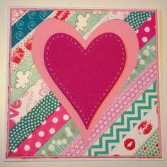 Tarjeta Washi tape corazon