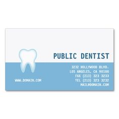 Dental Care Dentist Business Card. This great business card design is available for customization. All text style, colors, sizes can be modified to fit your needs. Just click the image to learn more!