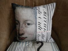 Portrait picture cushion ....to sleep dreaming by SeaAngelsVintage