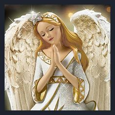 Thomas Kinkade Jeweled Christmas Angel Of Peace Figurine
