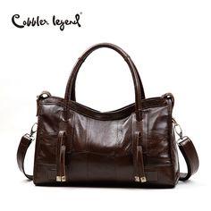 14b8b2261595 Cobbler Legend Original Genuine Leather Women Shoulder Bags 2017 New  Leisure Trend Ladies Crossbody Bag For Women s Handbag -in Shoulder Bags  from Luggage ...