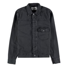 Our Legacy Hidden Button Jean Jacket Broken Twill Grey Wash Denim Button Up, Button Up Shirts, Our Legacy, Grey Wash, Winter Collection, Off White, Concept, Buttons, Jackets