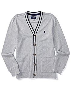 Classroom Big Boys Uniform Youth Unisex Cardigan Sweater Navy Blue Medium