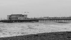 Worthing, West Sussex on a windy day in November 2014.