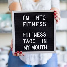 "When I hear CrossFit, all I can think is ""How many tacos can I fit across my stomach?"" The answer is seven. : @yourcupofcake #tacotuesday"