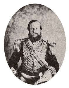 HIM Emperor Pedro II of Brazil dressed as an Admiral, c.1864