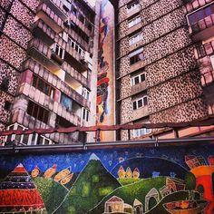 Yerevan Puppet Theatre's mosaic creeps upward #armenia #yerevan #architecture #puppets #sayatnova #mosaic #onearmenia http://instagram.com/p/YU7kCeORrX/