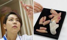 Yukako Fukushima, who makes prosthetic small fingers for reformed Japanese…