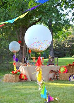CUSTOM Confetti Balloons with Tassels Big 36 inch balloon, huge garland first birthday party, graduation decor, wedding celebration, rainbow Mexican Fiesta Birthday Party, Fiesta Theme Party, Festa Party, Fiesta Cake, Balloon Tassel, Balloon With Tassels, Balloon Balloon, Balloon Party, Birthday Balloons