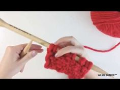 ▶ How to knit Linen stitch - Learn to knit - YouTube