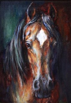Sold-Original Horse Painting-Original Oil-Horse Decor 'Equine Divine II'' Original Oil Painting on stretched Canvas and framed 5 X 7 A sensitive gaze. This elegant horse is coming out of the darkness…MoreMore Click Visit link to read Painted Horses, Horse Canvas Painting, White Horse Painting, Painting Frames, Oil On Canvas, Horse Portrait, Pencil Portrait, Horse Drawings, Watercolor Artists