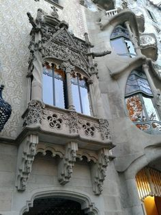 Different styles side by side. Casa Batlla Barcelona