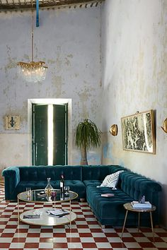 Velvet Kettleby Three-Piece Sectional - anthropologie.com