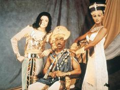 """Michael with Eddie Murphy and Iman from the """"Remember The Time"""" video."""
