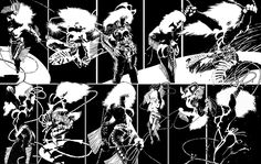 Inking example: pure black and white. Frank Miller Sin City. Image result for frank miller sin city
