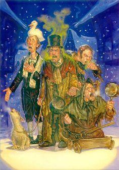 Mitglieder der Grässlichen Gruppe - die erfolgreichsten Bettler von Ankh-Morpork.