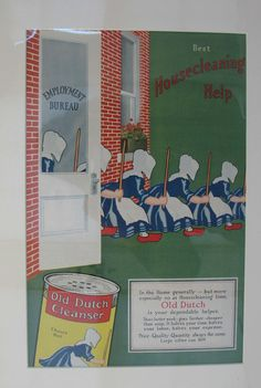 Old Dutch cleanser Advertising 1940s Dutch Girl by MicheleACaron, $22.00