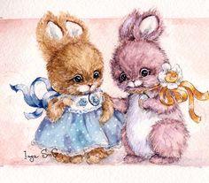 Risultati immagini per lebedeva marina cross stitch Cute Animal Illustration, Character Illustration, Illustration Art, Urso Bear, Baby Animals, Cute Animals, Baby Animal Drawings, Bunny Painting, Fantasy Mermaids