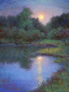 Kathleen Kalinowski is a Michigan artist who paints in pastel and oil, primarily Michigan landscapes of shorelines, dunes, lakes, streams and woodlands. A signature member of the Pastel Society of America. Acrylic Painting Trees, River Painting, Watercolor Trees, Painting Canvas, Landscape Drawings, Landscape Paintings, Landscapes, Nature Paintings, Landscape Photos