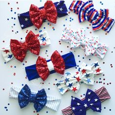 Adorable Fourth of July bows and headbands available at www.sassybowco.com! Use promo code BOOM for 20% off the Fourth of July collection! Order by June 6th!