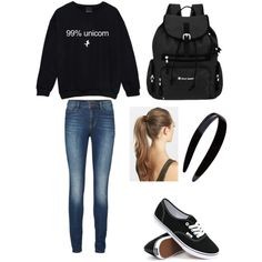 School #11 by amberpend on Polyvore featuring polyvore, fashion, style, Lipsy, Vans, Sherpani and France Luxe