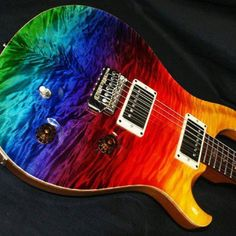 Paul Reed Smith guitars are always so nice. I like the rainbow stain over the very busy flame-maple top. Probably plays like a dream