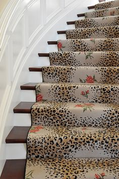 Designer Favorite S Stair Runnersa Little Animal Print