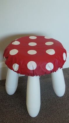 Make a Mushroom Seat from an Ikea Stool
