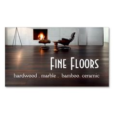 flooring hardwood marble construction business card - Flooring Business Cards
