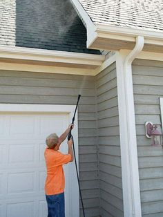 Make sure your siding is in tip-top shape and remember to power wash your home this spring!