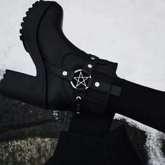 Gothic High Heeled Black Boots