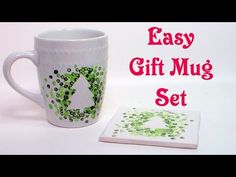 Easy Gift Mug Set Today I will share a quick and easy painted mug craft. You will need: White ceramic mugs and tiles Folk Art Enamels paint in your choice of...