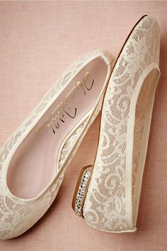 Stylish Wedding Bridal Flats and Shoes: Glamour.com