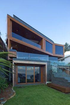 panoramafenster holzrahmen dreiteilige designer strandvilla turner