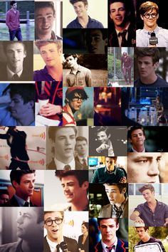Grant gustin collage. It's all GIFs but I couldn't upload the gifs