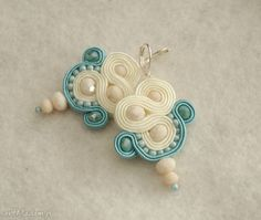 kolczyki sutasz kremowo-turkusowe. $18 Belly Button Rings, Earrings, Jewelry, Ear Rings, Stud Earrings, Jewlery, Jewerly, Ear Piercings, Schmuck