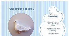 white dove pattern free