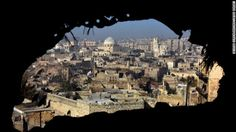 Best photos of the day: a border crossing & a new train-eppo, Syria A view of damaged buildings in old Aleppo's Jdeideh neighbourhood Photograph: George Ourfalian/AFP/Getty Images Syria Conflict, Picture Editor, Aleppo, S Pic, Landscape Photos, The Guardian, Iran, Paris Skyline, Mount Rushmore