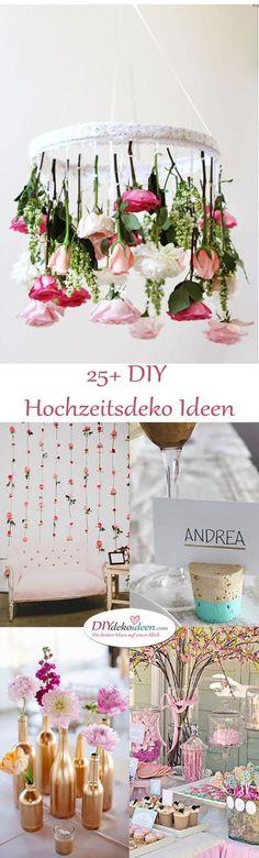 DIY Hochzeitsdekoration Bastelideen zum selber machen