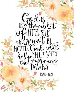 God is in the Midst of Her