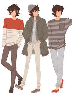 Keith em várias formas coreanas de ☆