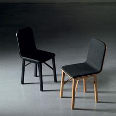 Kama sedia in legno con seduta imbottita di Miniforms