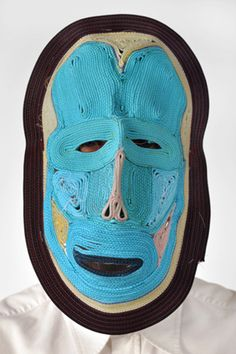 STUDIO BERTJAN POT. Amazing masks made from stitching ropes together. See more of this crazy masks here: http://clagil.tumblr.com/post/19952246141/studio-bertjan-pot-amazing-masks-made-from