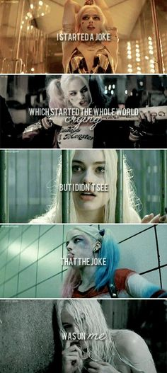 Suicide Squad Harley Quinn Cosplay Costume and Accessories Der Joker, Joker And Harley Quinn, Atriz Margot Robbie, Image Triste, I Started A Joke, Univers Dc, Dc Memes, Joker Quotes, Comics